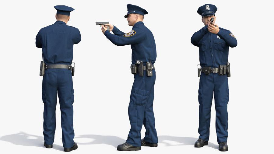NYPD-polisens päls riggade royalty-free 3d model - Preview no. 24