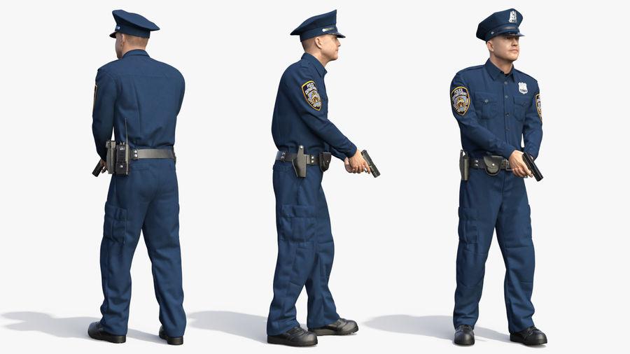 NYPD-polisens päls riggade royalty-free 3d model - Preview no. 23