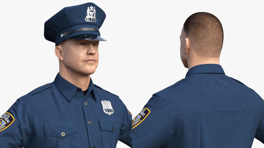 NYPD-polisens päls riggade royalty-free 3d model - Preview no. 7