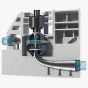 Energiecentrale met pompaccumulatie met variabele snelheid 3d model