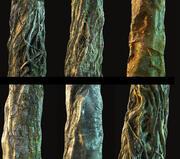 Pakiet kory drzewa dżungli 7 3d model