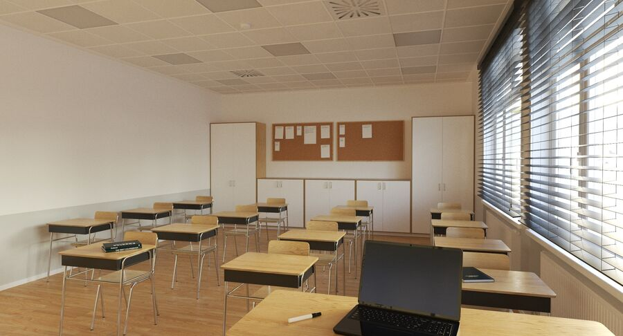 Klassenzimmer royalty-free 3d model - Preview no. 5