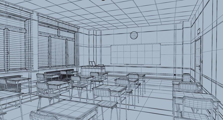 Klassenzimmer royalty-free 3d model - Preview no. 13