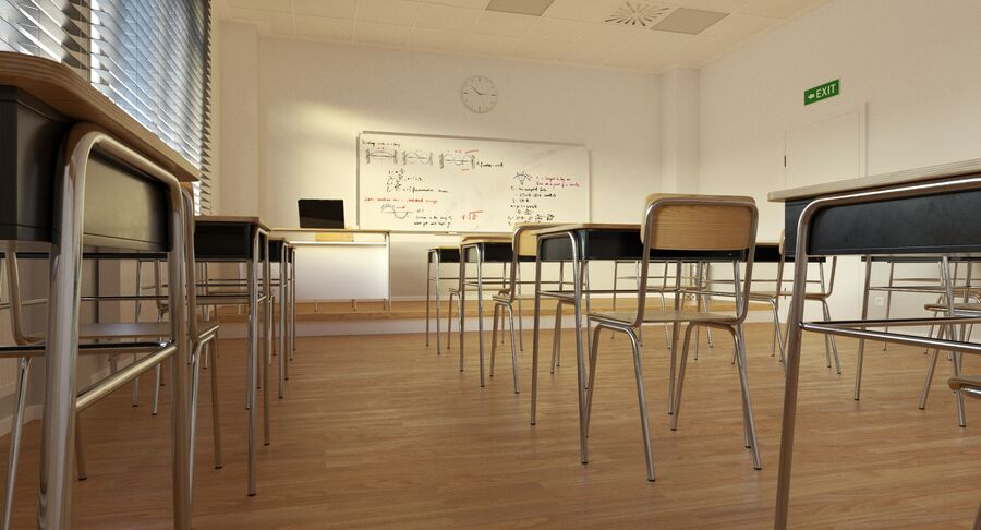 Klassenzimmer royalty-free 3d model - Preview no. 8
