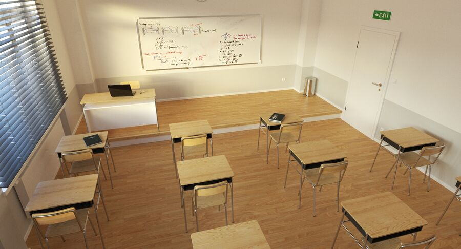 Klassenzimmer royalty-free 3d model - Preview no. 7