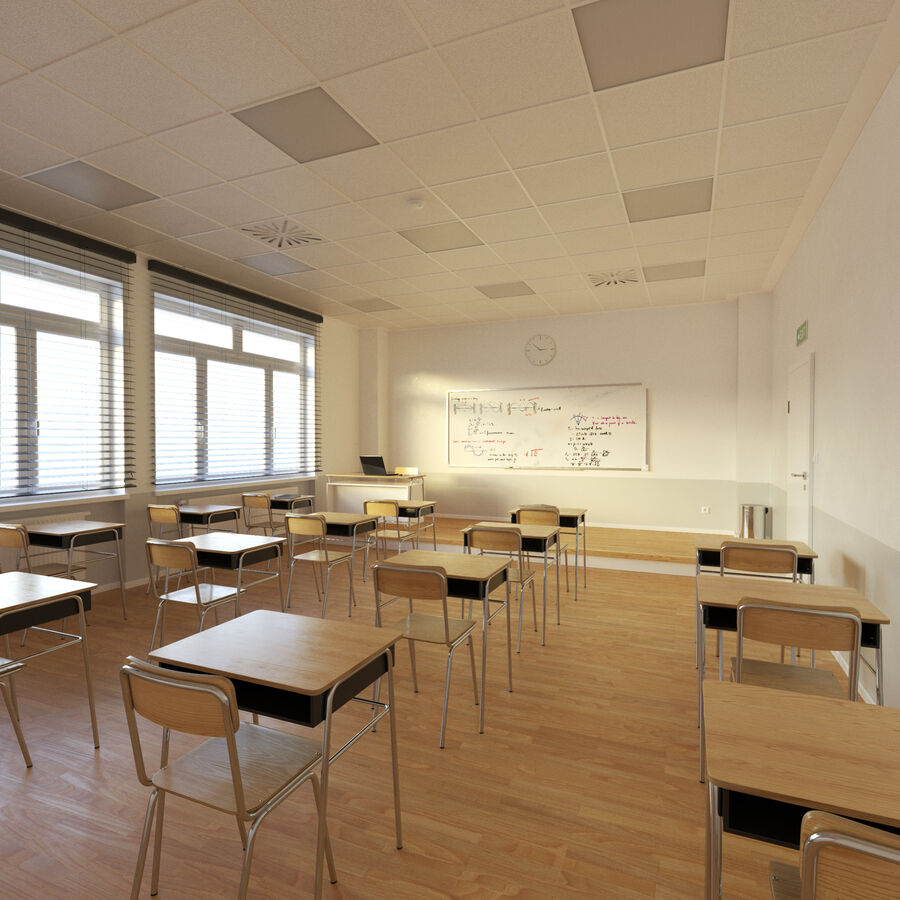 Klassenzimmer royalty-free 3d model - Preview no. 1