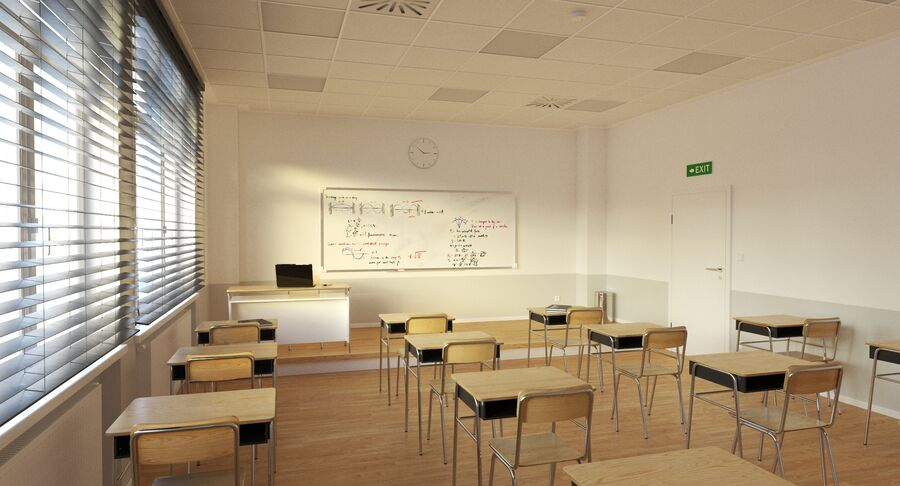 Klassenzimmer royalty-free 3d model - Preview no. 4
