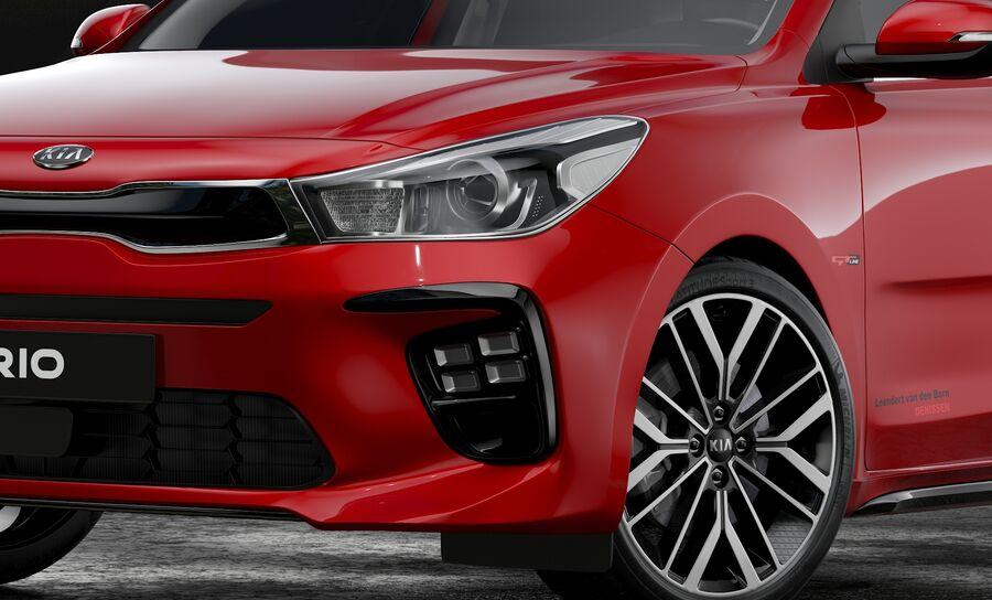 2019 Kia Rio royalty-free 3d model - Preview no. 7