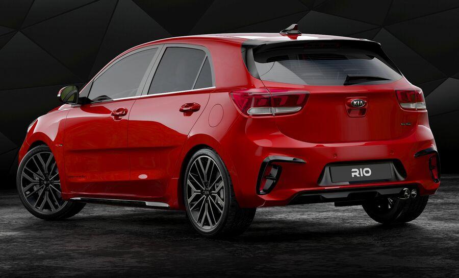 2019 Kia Rio royalty-free 3d model - Preview no. 3