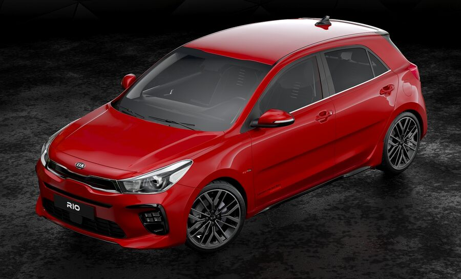 2019 Kia Rio royalty-free 3d model - Preview no. 6