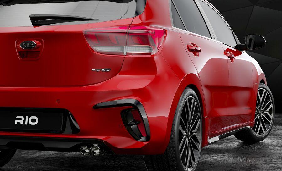 2019 Kia Rio royalty-free 3d model - Preview no. 8
