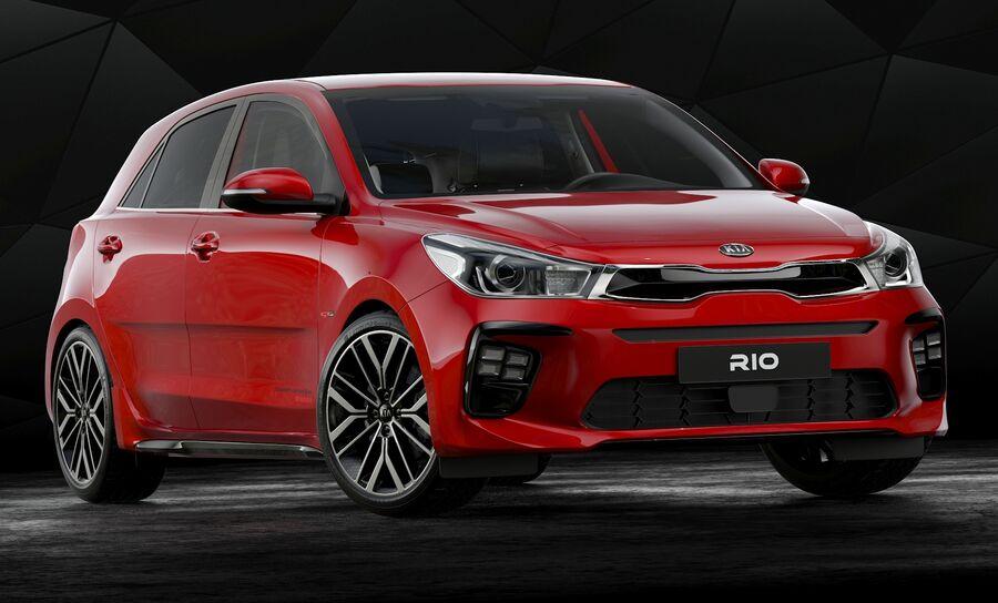2019 Kia Rio royalty-free 3d model - Preview no. 2