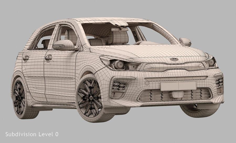 2019 Kia Rio royalty-free 3d model - Preview no. 17