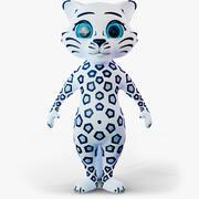 Leopardo de nieve modelo 3d