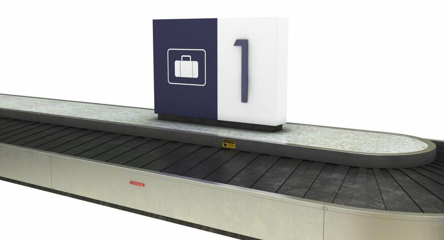Coleção 6 de equipamentos para interiores de aeroportos royalty-free 3d model - Preview no. 11