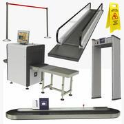 Coleção 6 de equipamentos para interiores de aeroportos 3d model