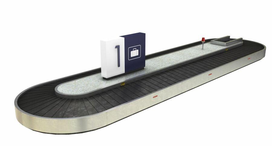 Coleção 6 de equipamentos para interiores de aeroportos royalty-free 3d model - Preview no. 10