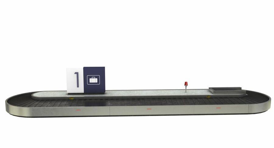 Coleção 6 de equipamentos para interiores de aeroportos royalty-free 3d model - Preview no. 13