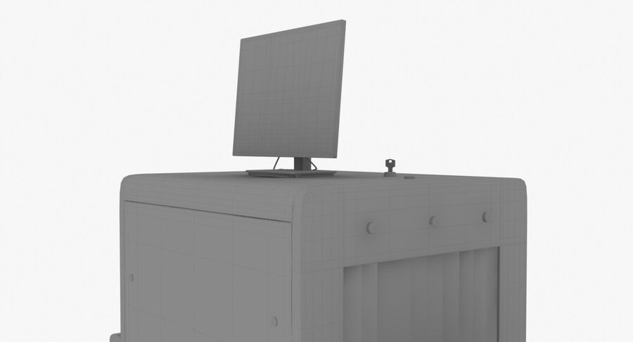 Coleção 6 de equipamentos para interiores de aeroportos royalty-free 3d model - Preview no. 31