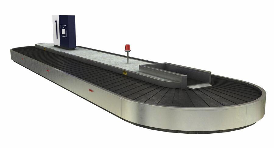 Coleção 6 de equipamentos para interiores de aeroportos royalty-free 3d model - Preview no. 9