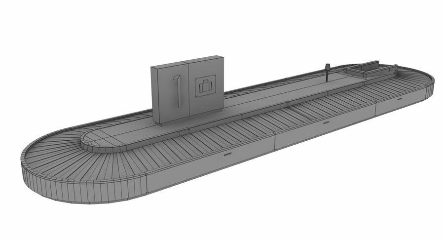 Coleção 6 de equipamentos para interiores de aeroportos royalty-free 3d model - Preview no. 16