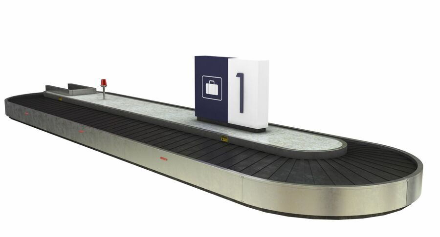 Coleção 6 de equipamentos para interiores de aeroportos royalty-free 3d model - Preview no. 14