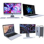 Коллекция компьютеров Apple 2 3d model