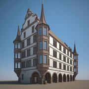 文艺复兴一号房 3d model