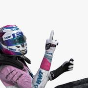 Sergio Perez 2019 3d model