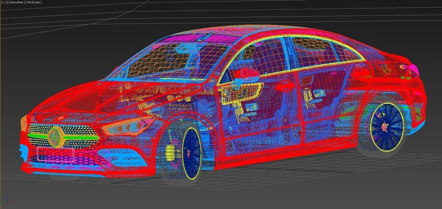 梅赛德斯-奔驰CLA 2020 royalty-free 3d model - Preview no. 23