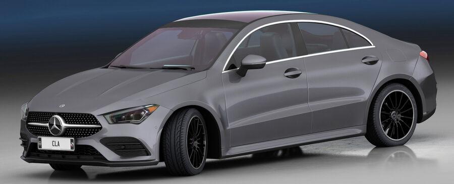 梅赛德斯-奔驰CLA 2020 royalty-free 3d model - Preview no. 3