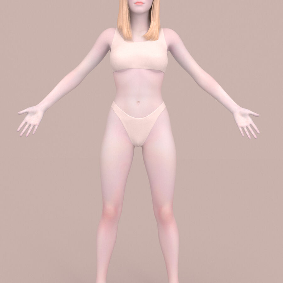 femmes truquées royalty-free 3d model - Preview no. 2