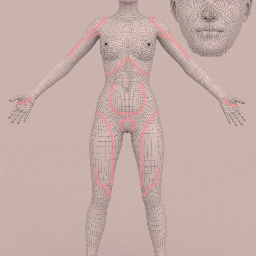 femmes truquées royalty-free 3d model - Preview no. 5