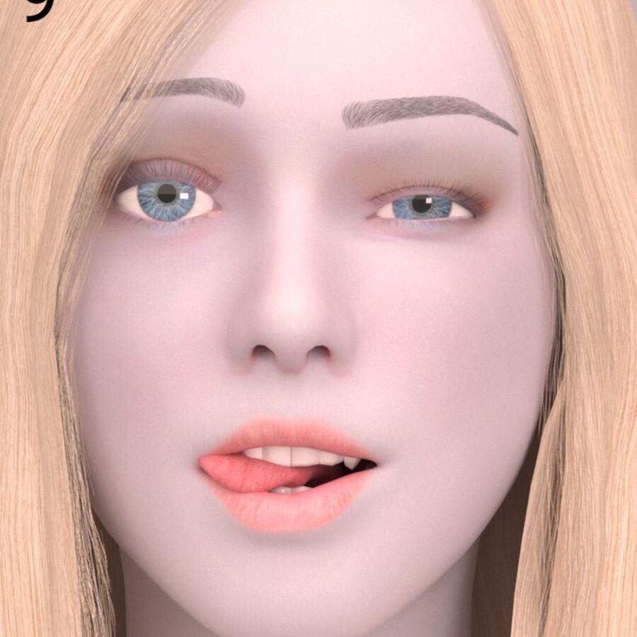 femmes truquées royalty-free 3d model - Preview no. 9