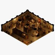 Gotowy loch oraz modułowe pokoje i rekwizyty 3d model