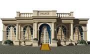 Klassisk fasadpalats 3d model