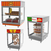 Food Display Collection 3D Model 3d model