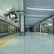 地下鉄の駅 3d model
