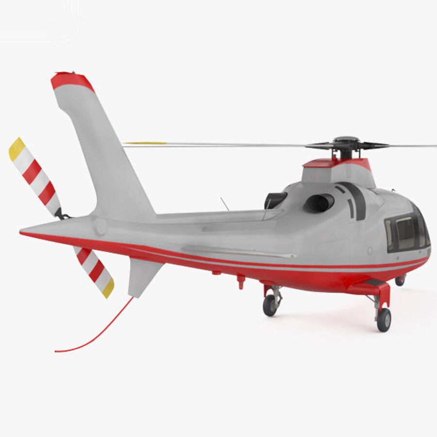AgustaWestland AW109 royalty-free 3d model - Preview no. 2
