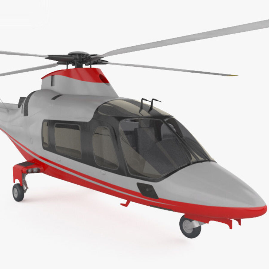 AgustaWestland AW109 royalty-free 3d model - Preview no. 6