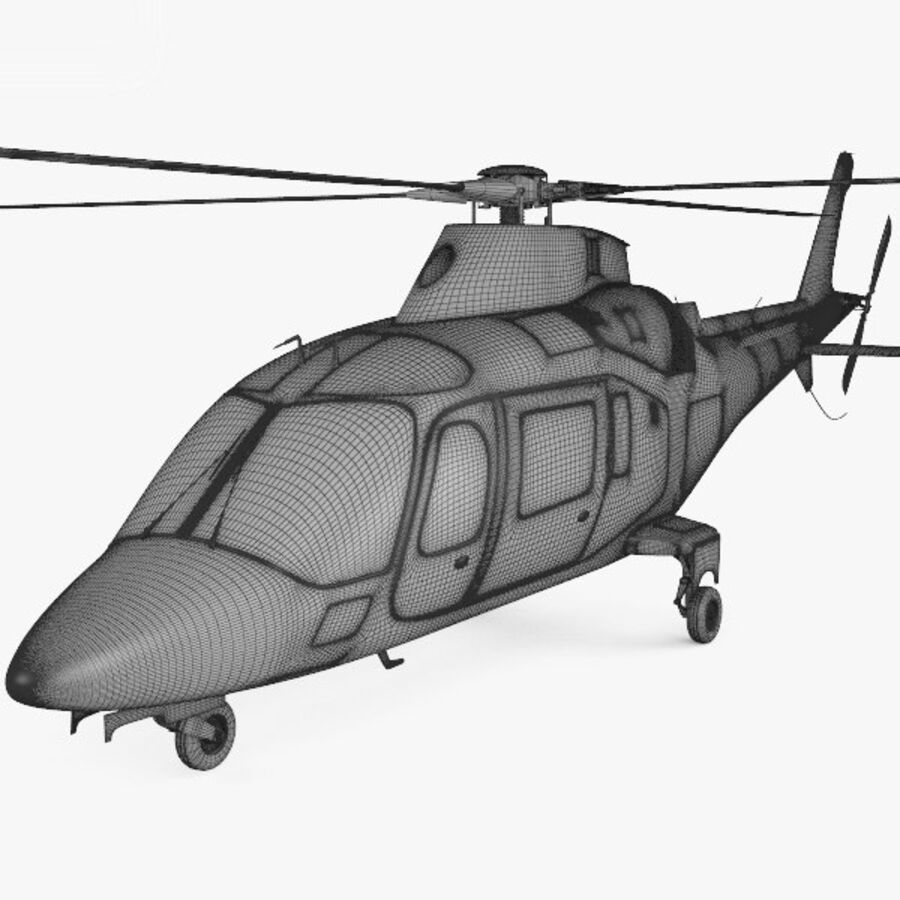 AgustaWestland AW109 royalty-free 3d model - Preview no. 3