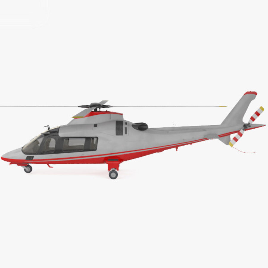 AgustaWestland AW109 royalty-free 3d model - Preview no. 5