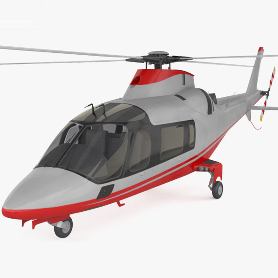 AgustaWestland AW109 royalty-free 3d model - Preview no. 1