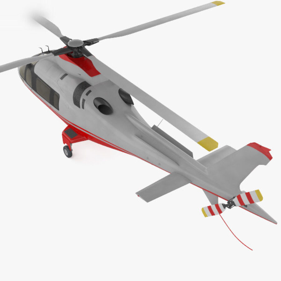 AgustaWestland AW109 royalty-free 3d model - Preview no. 9