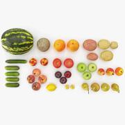 Fruit en groenten-collectie 3d model