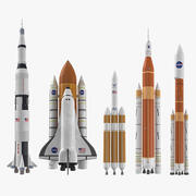 NASA Space Rockets Collection 3d model