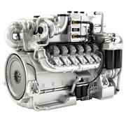 Mtu 16v M96-dieselmotor 3d model