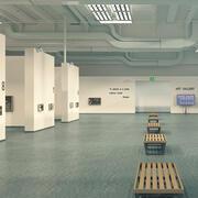 Galerie voor moderne kunst 3d model