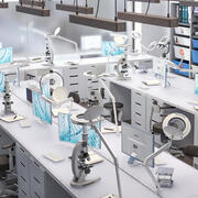 Scientific Laboratory Modern 3d model