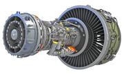 기어드 터보 팬 엔진 3d model